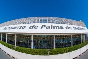 Blick auf den Flughafen von Palma de Mallorca