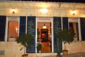 Eingang Restaurant Pizzeria Alegria in Portocolm