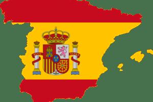 Spanien und spanisch Flagge